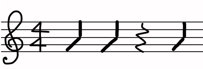 コード練習時間 4分音符